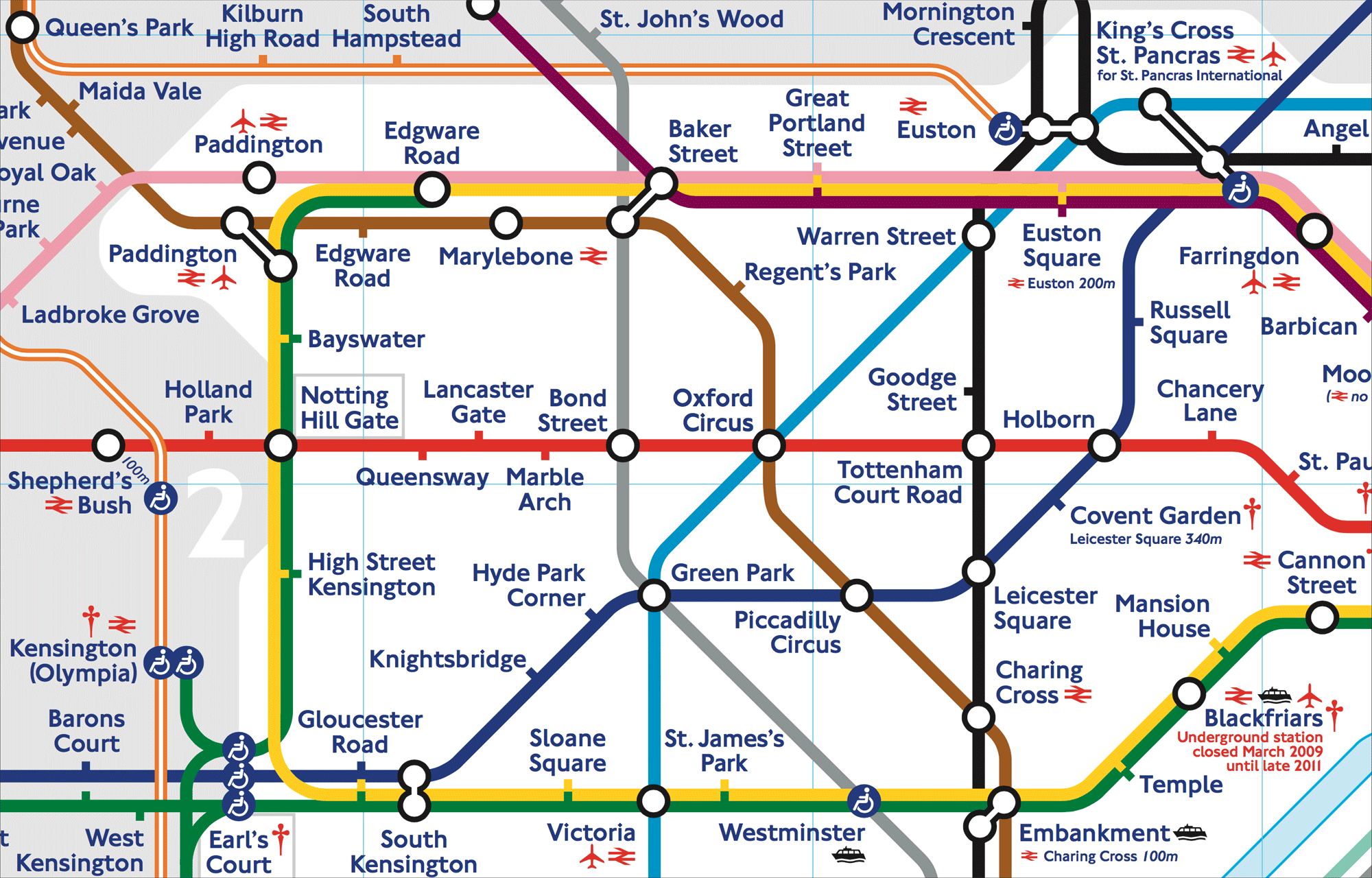 Modern London Underground map