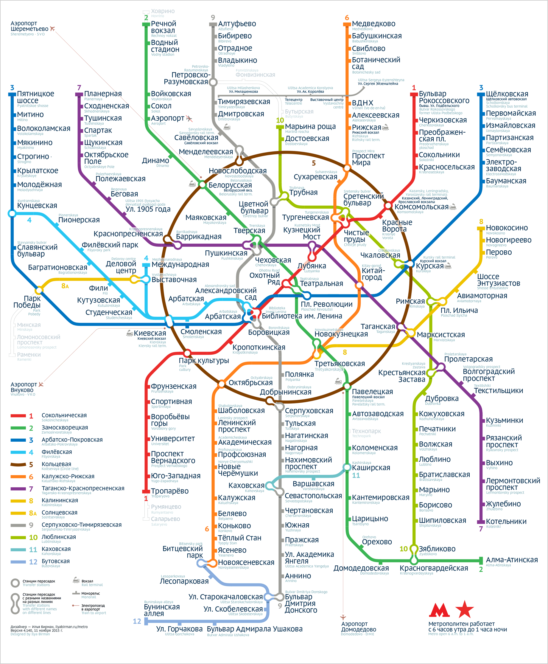 Moscow Subway Map English.The Fourth Version Of Moscow Metro Map