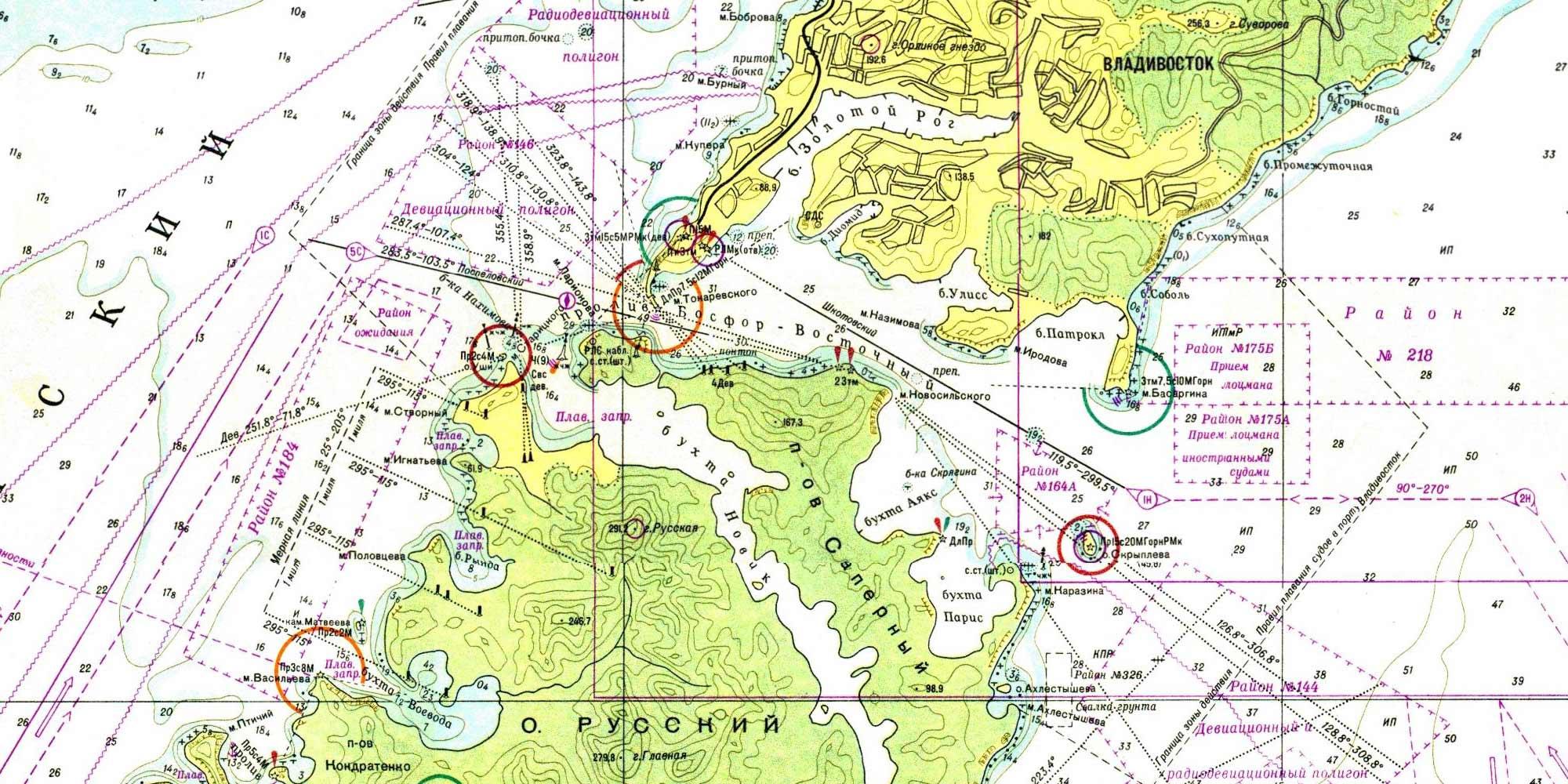 A nautical chart