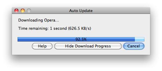 Opera updates itself