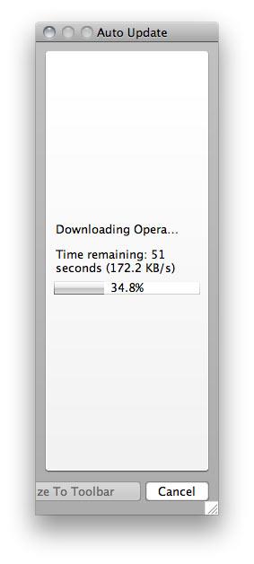 Opera update window is resizable