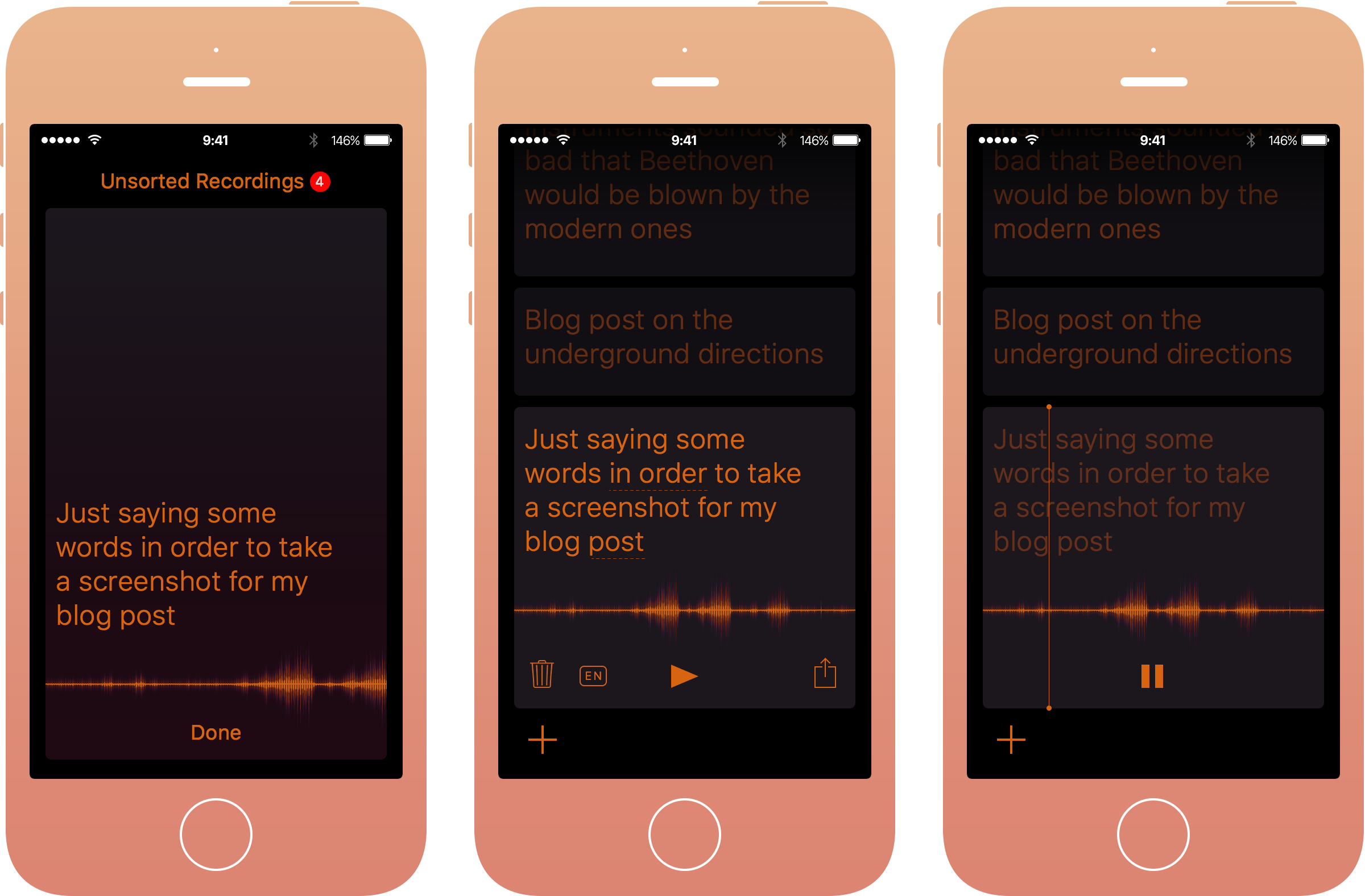 Sayve, a reliable voice recorder and recogniser