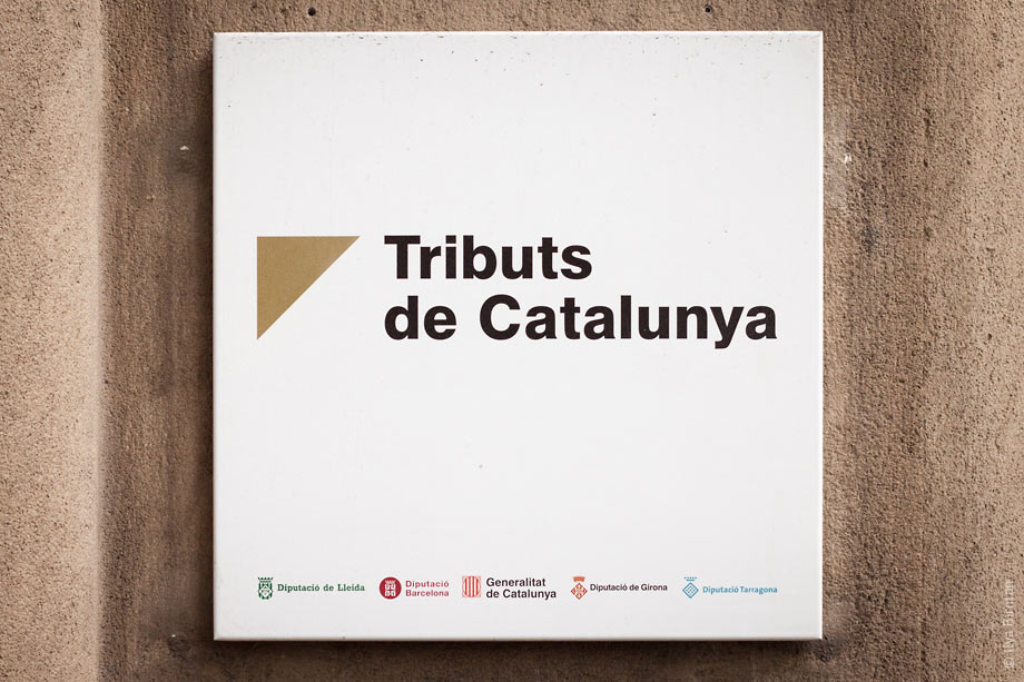 The government of Catalonia symbol with all the symbols of Catalan councils
