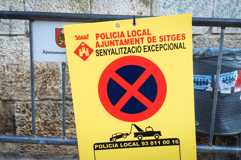 The symbol of Sitges city hall