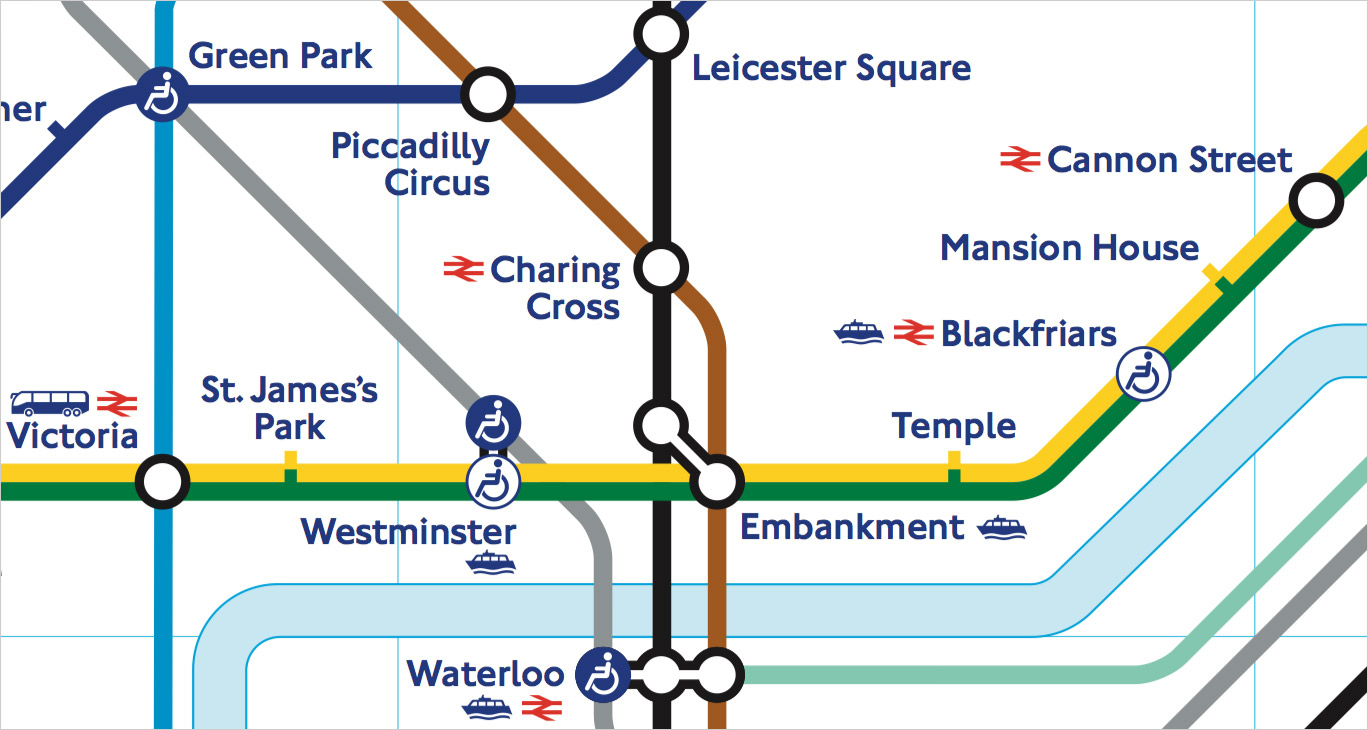 Transport map design. London