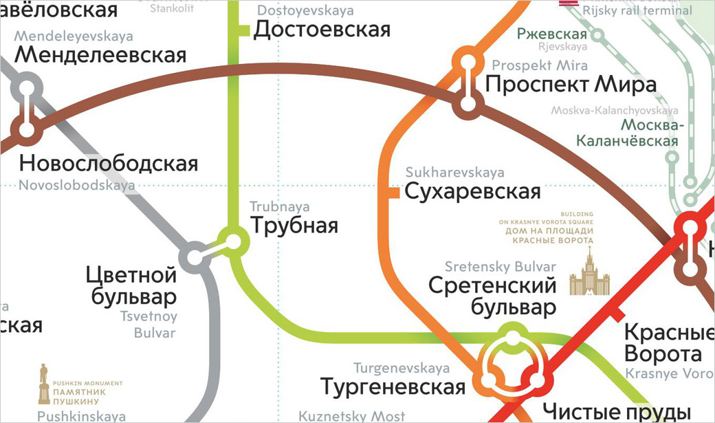 Transport map design. Moscow