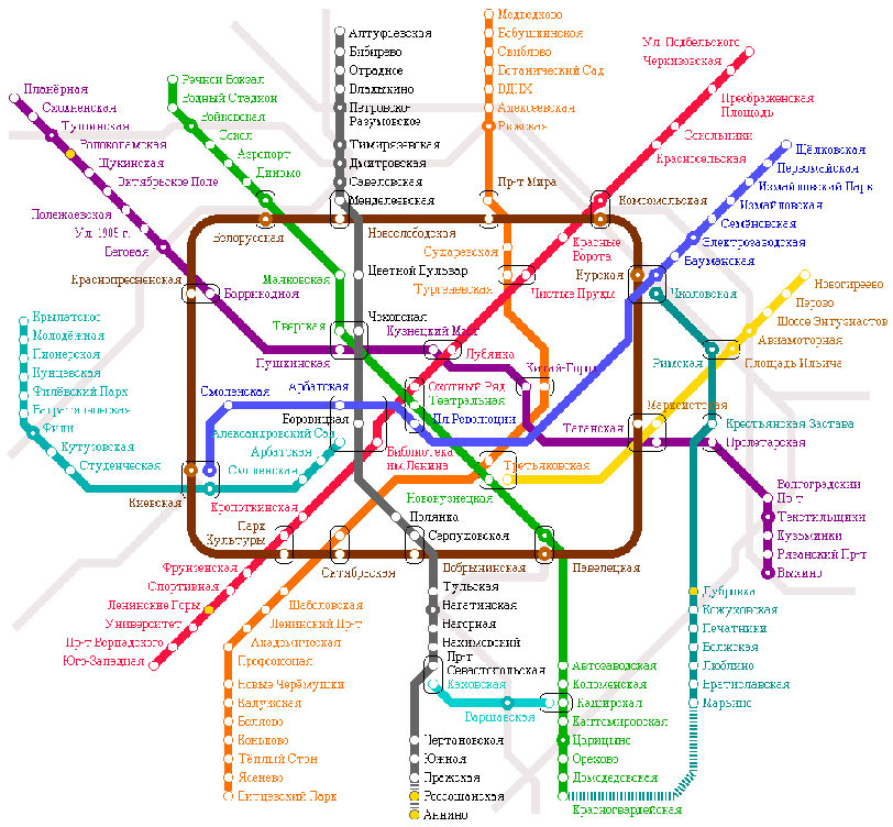 Transport map design. Not Moscow