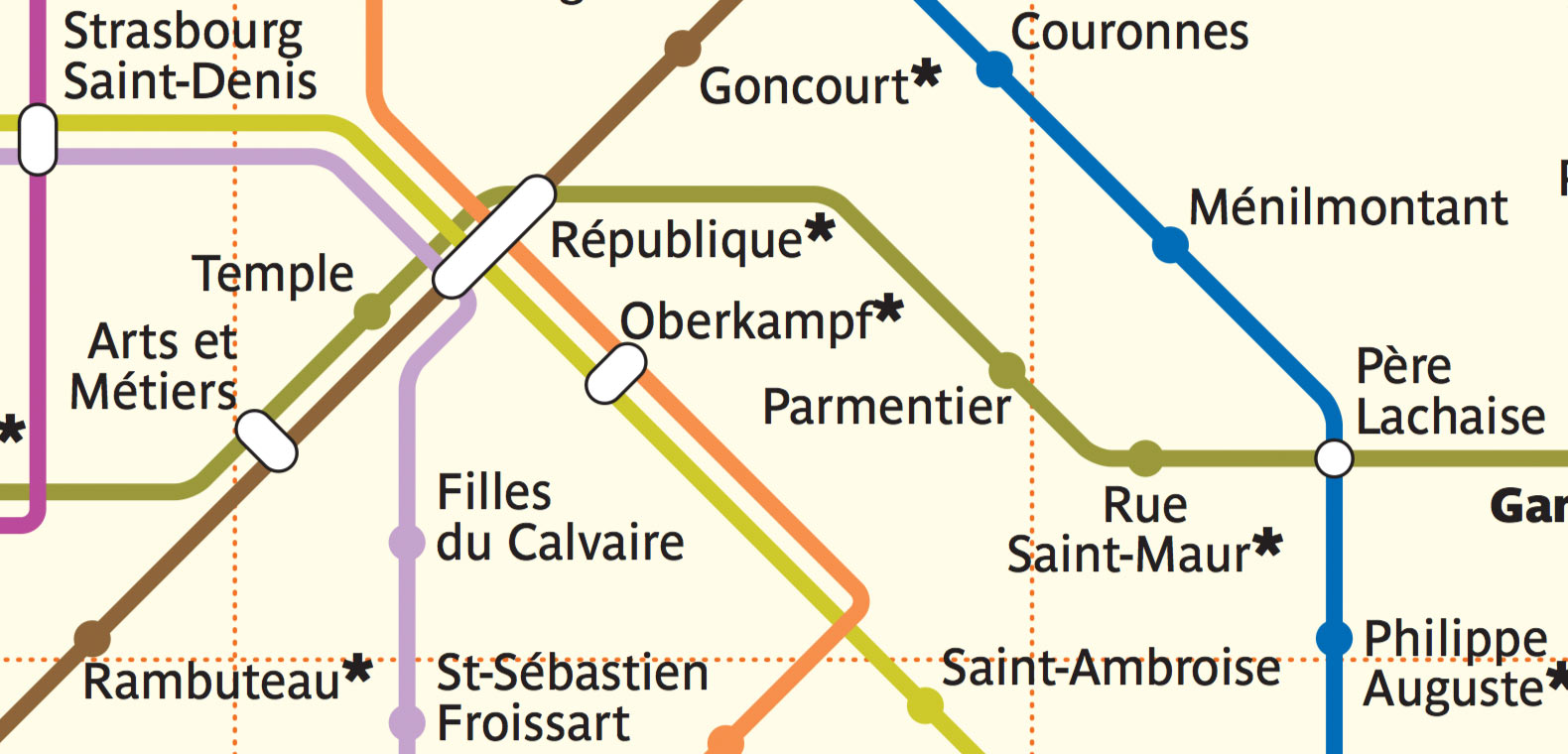 Transport map design. Paris