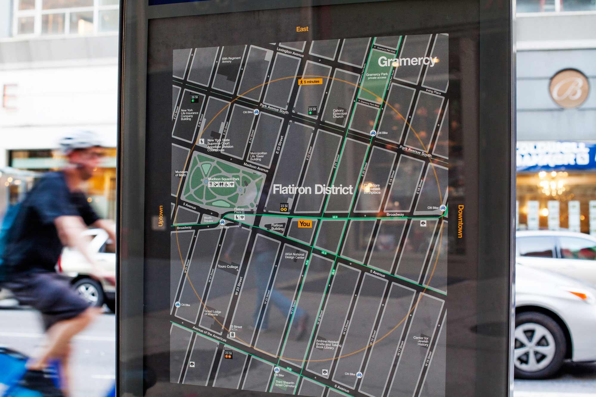 WalkNYC wayfinding system (2013)
