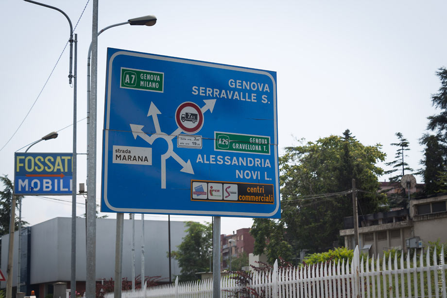 An Italian road sign