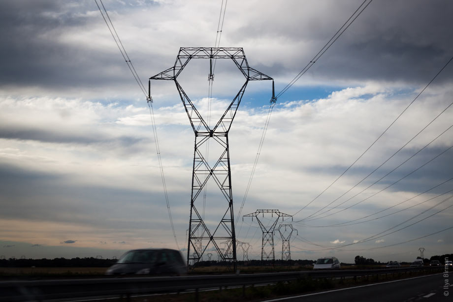 Transmission tower in France