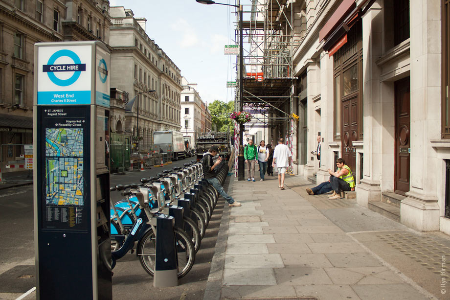 Cycle hire point in London