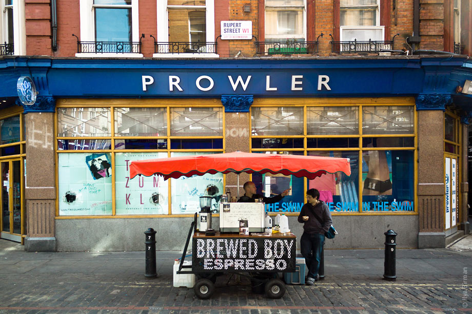 A coffee seller in Soho
