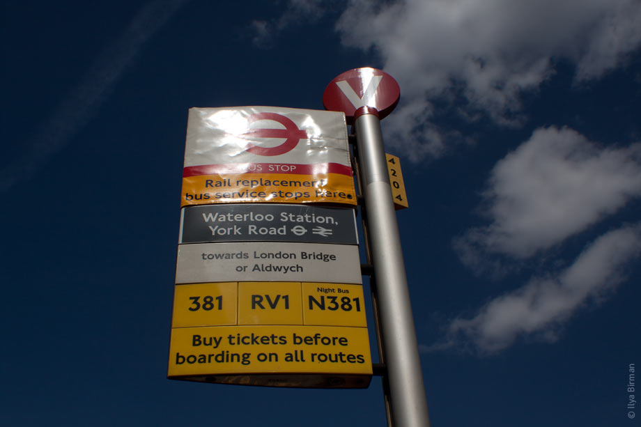 Rail replacement bus service stops here