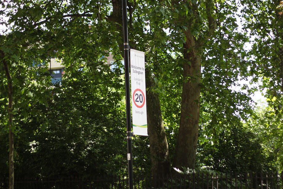 Islington has a 20 miles per hour speed limit