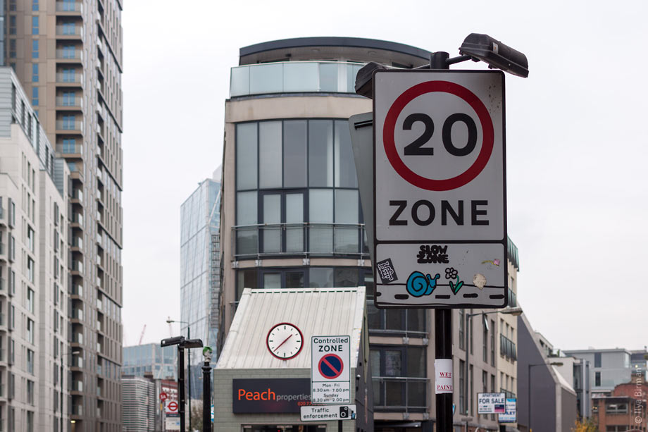 Speed limit sign in London