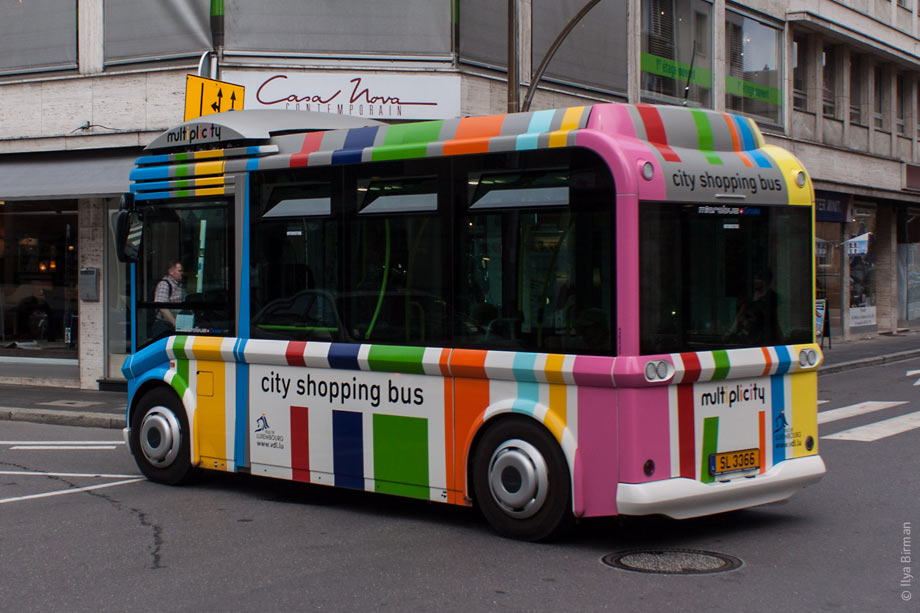 City shopping bus in Luxembourg