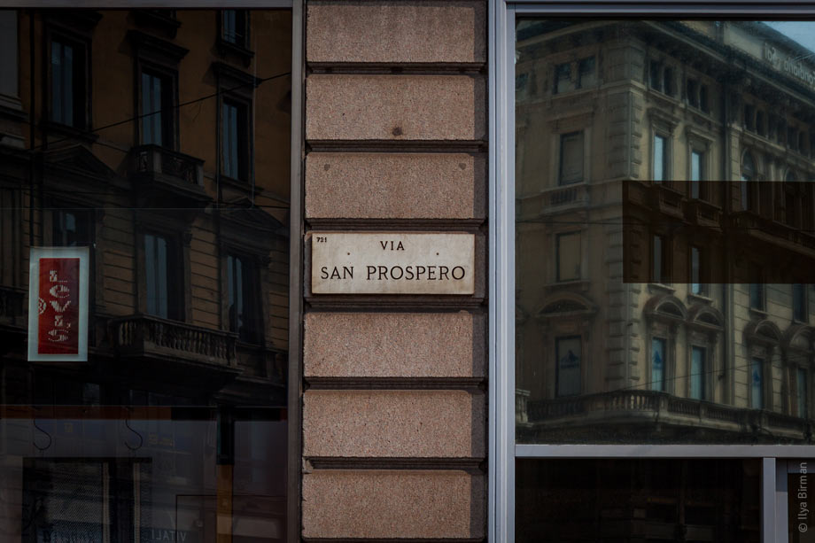 Street name plate in Milan