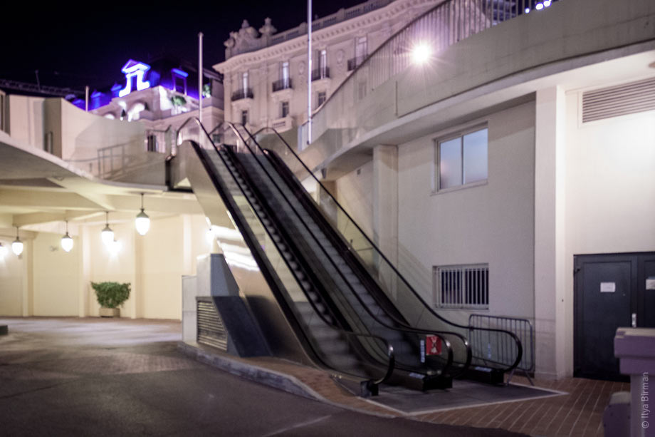 An escalator in Monte Carlo