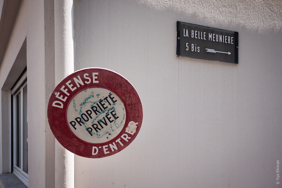Private property sign in Nice