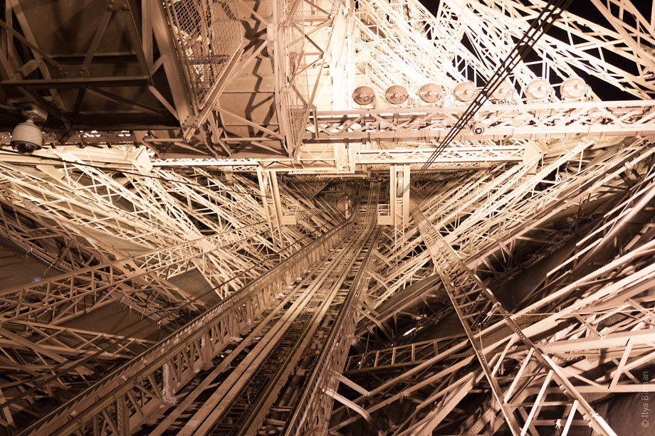 One of Eiffel Tower pillars from inside