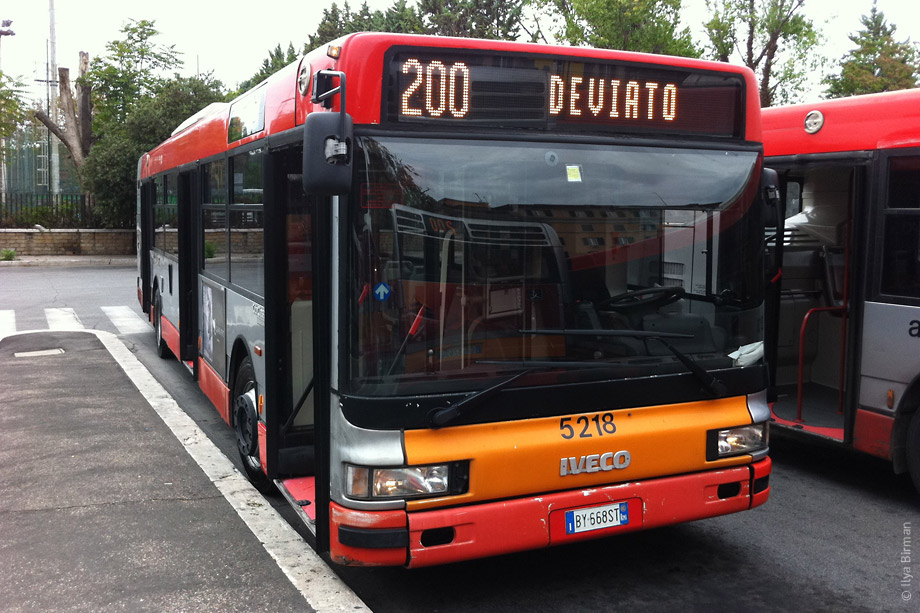 The bus 200 in Rome