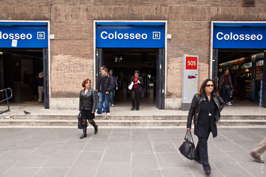 Colosseo station in Rome