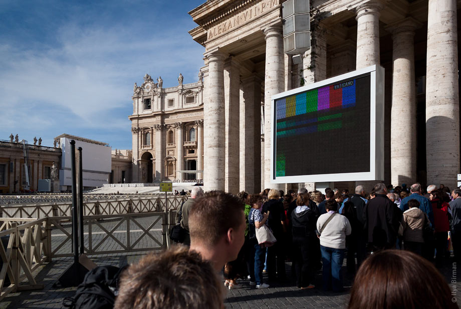 Vatican television is silent